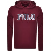 Product Image for Ralph Lauren Long Sleeved Hooded T Shirt Burgundy